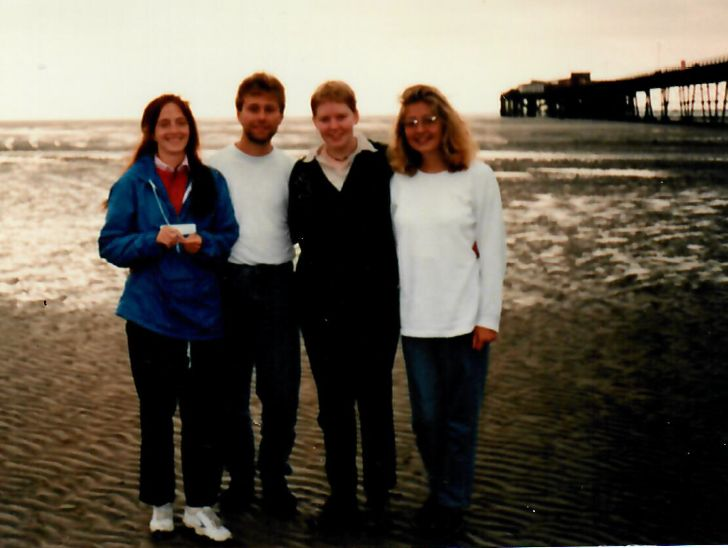 September 1995, Low tide in Liverpool